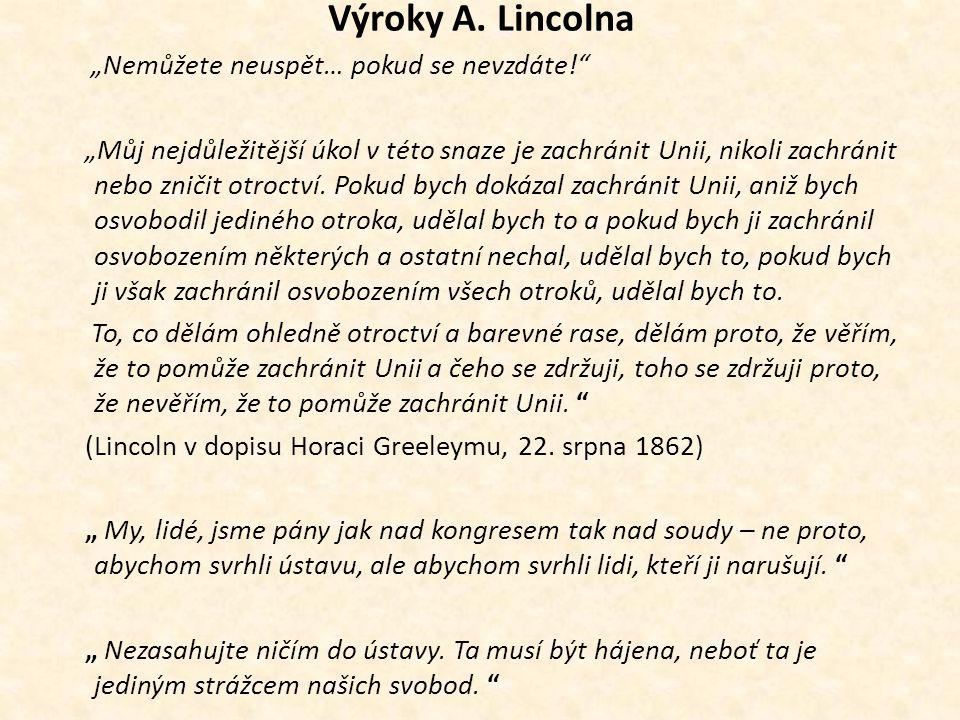 Výroky A. Lincolna