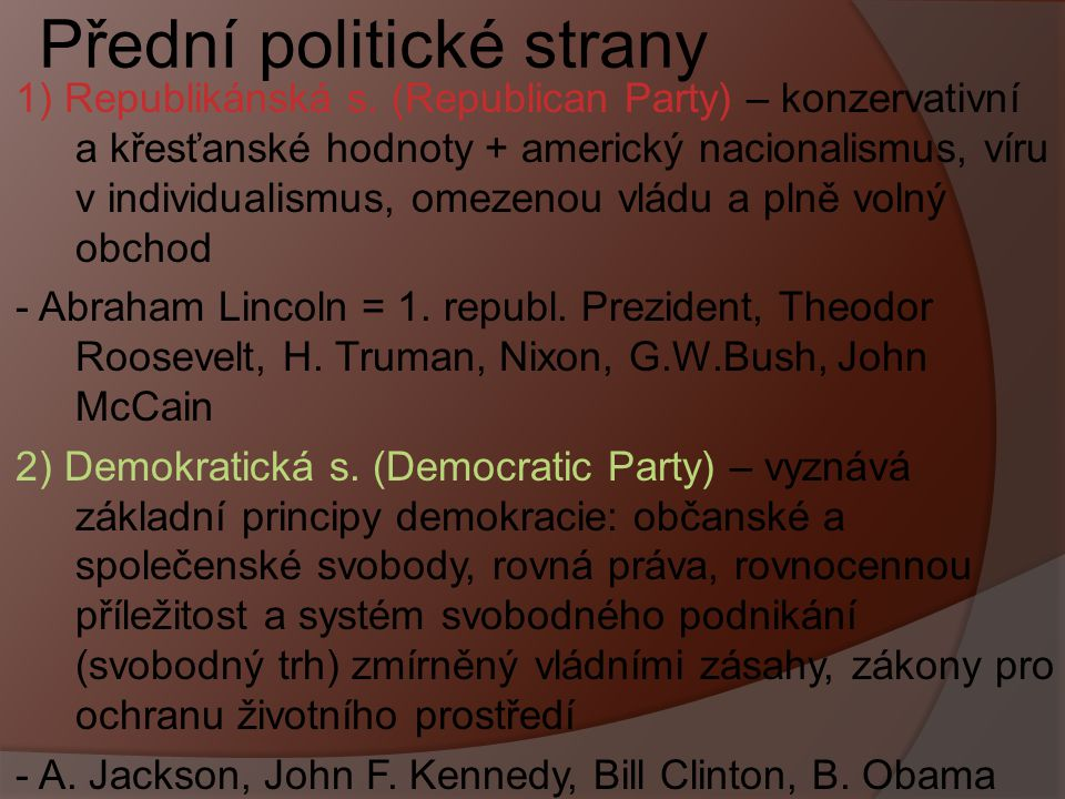 Přední politické strany
