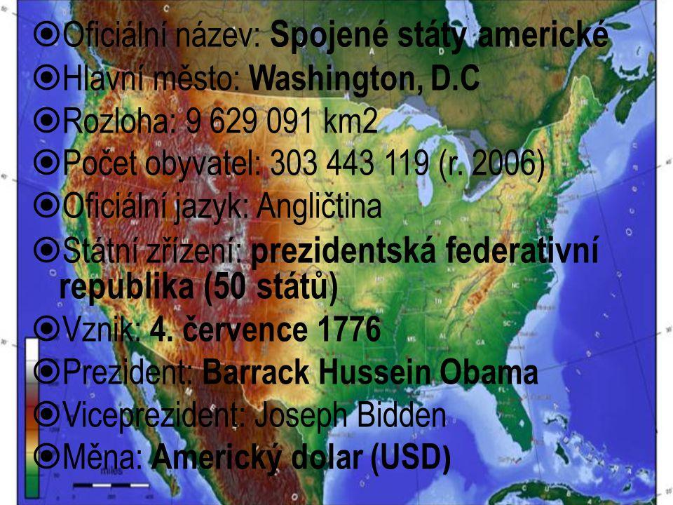 Oficiální název: Spojené státy americké