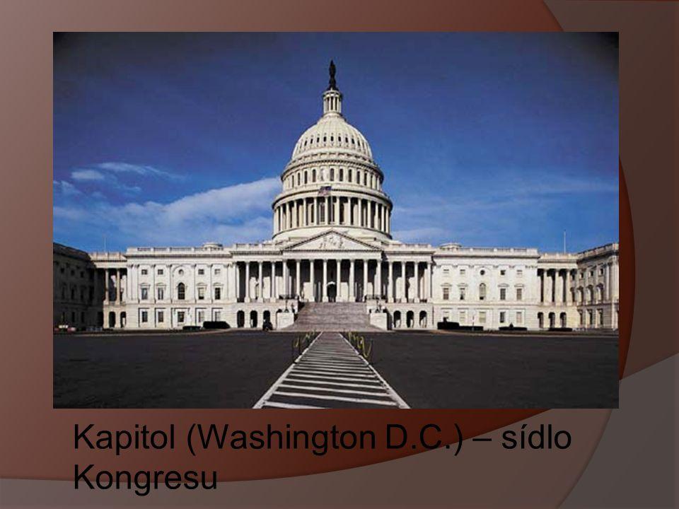 Kapitol (Washington D.C.) – sídlo Kongresu