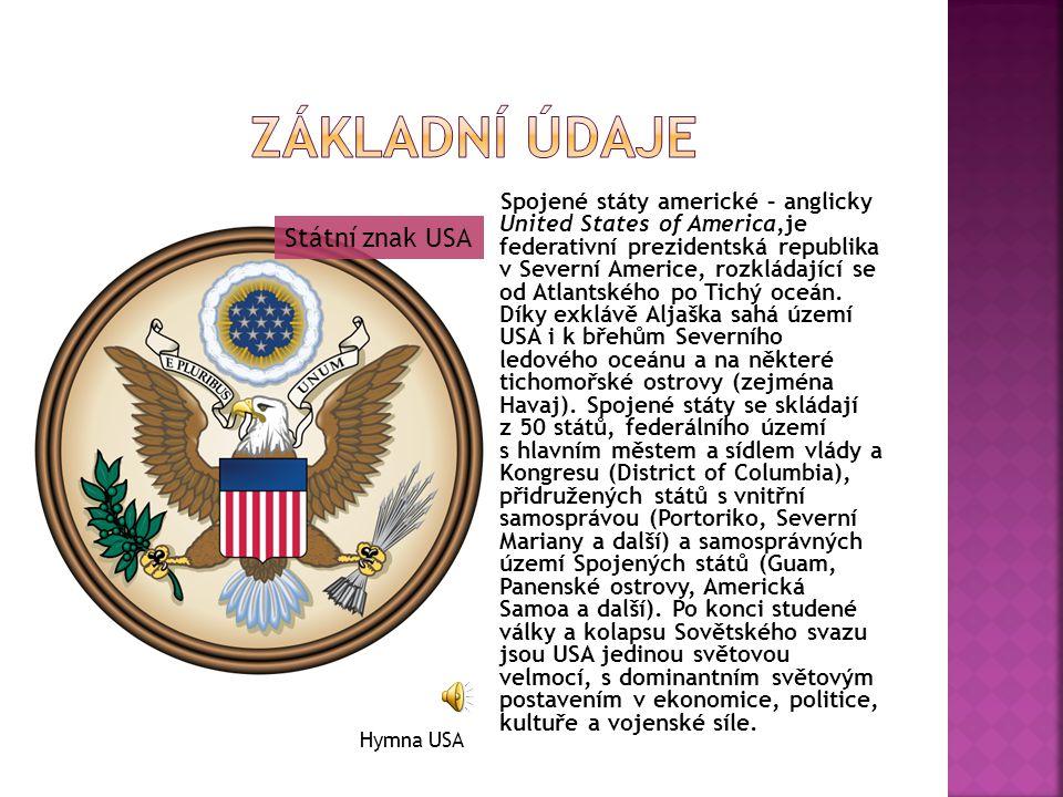Základní údaje Státní znak USA