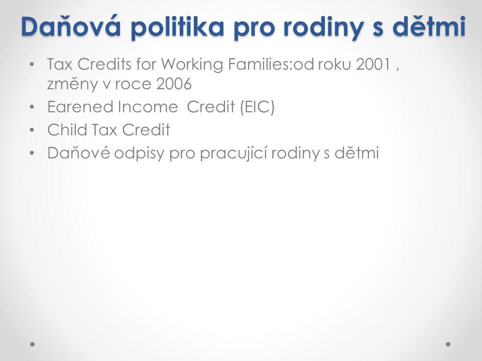 Daňová politika pro rodiny s dětmi