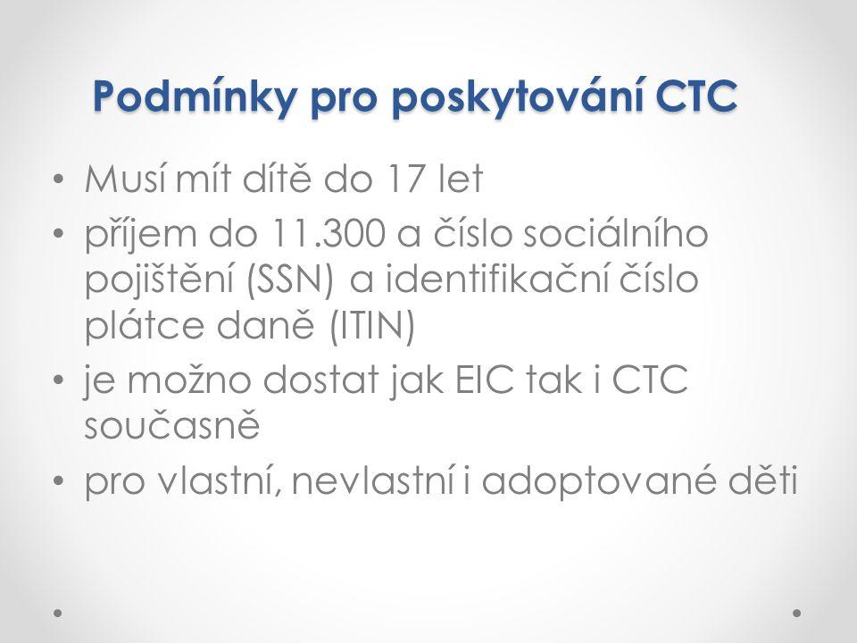 Podmínky pro poskytování CTC