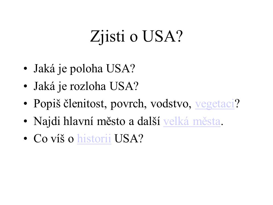 Zjisti o USA Jaká je poloha USA Jaká je rozloha USA