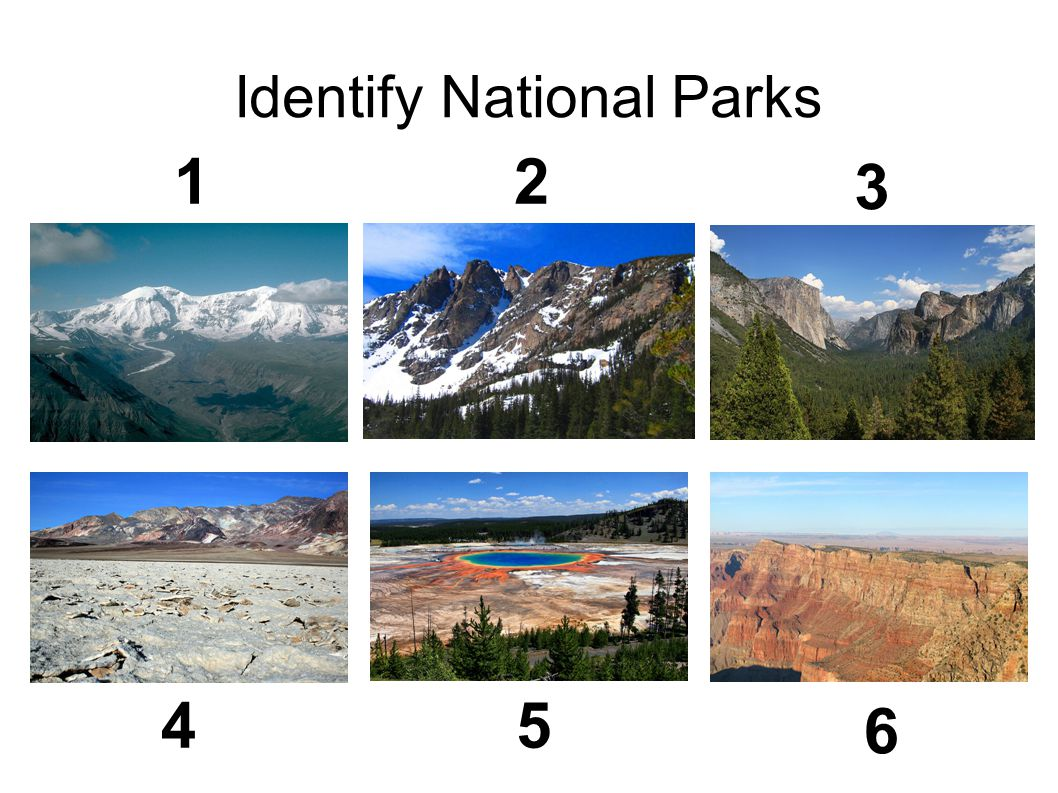 Identify National Parks
