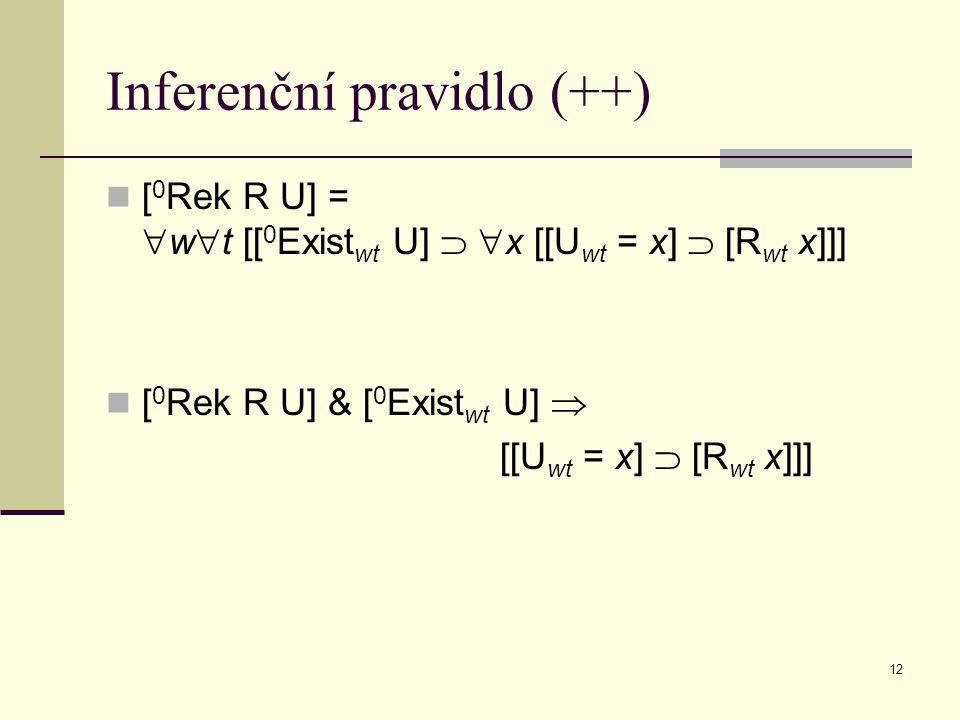 Inferenční pravidlo (++)