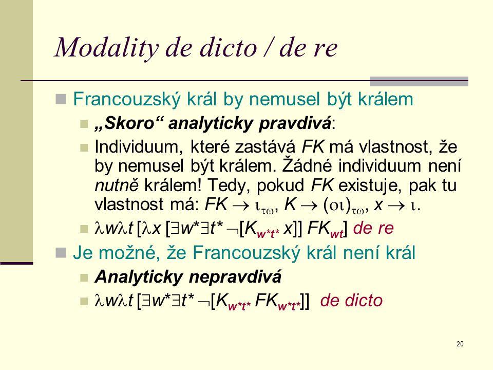 Modality de dicto / de re