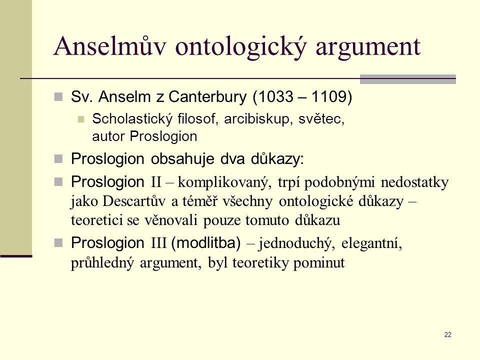 Anselmův ontologický argument