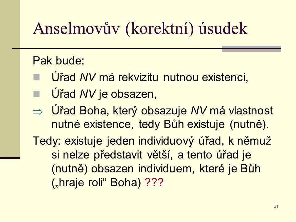 Anselmovův (korektní) úsudek