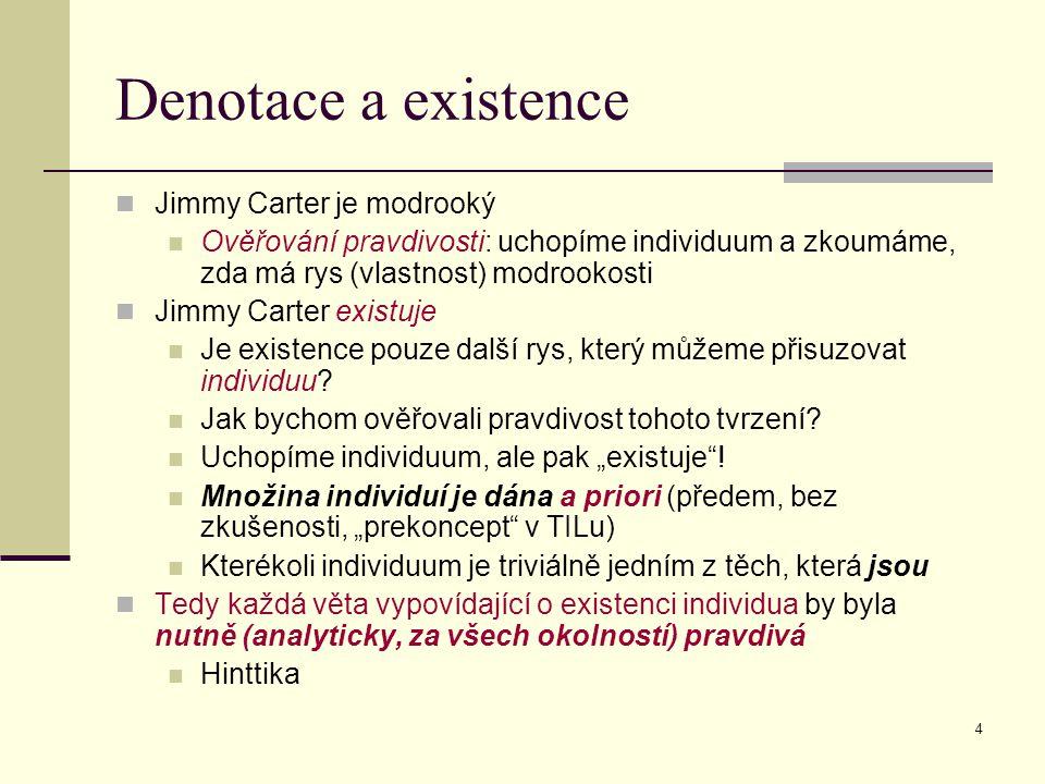 Denotace a existence Jimmy Carter je modrooký