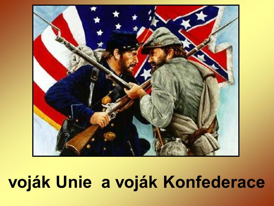 voják Unie a voják Konfederace