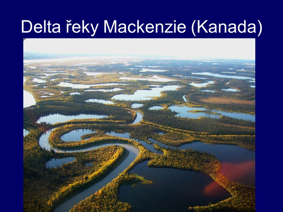 Delta řeky Mackenzie (Kanada)