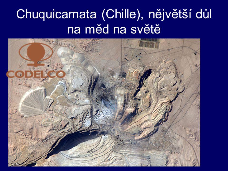 Chuquicamata (Chille), nějvětší důl na měd na světě