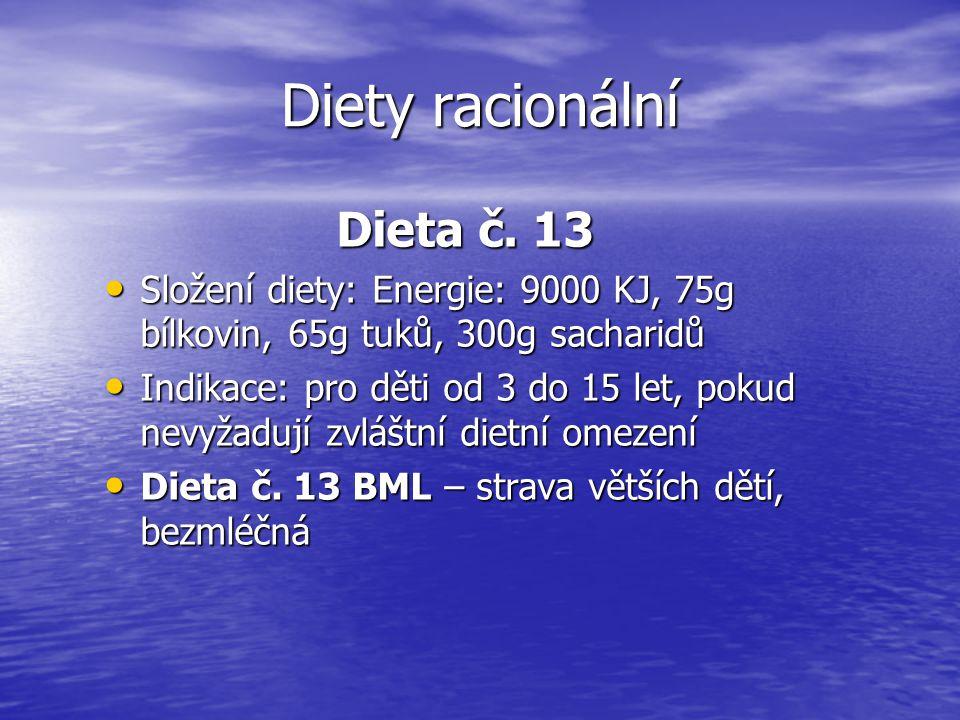 Diety racionální Dieta č. 13