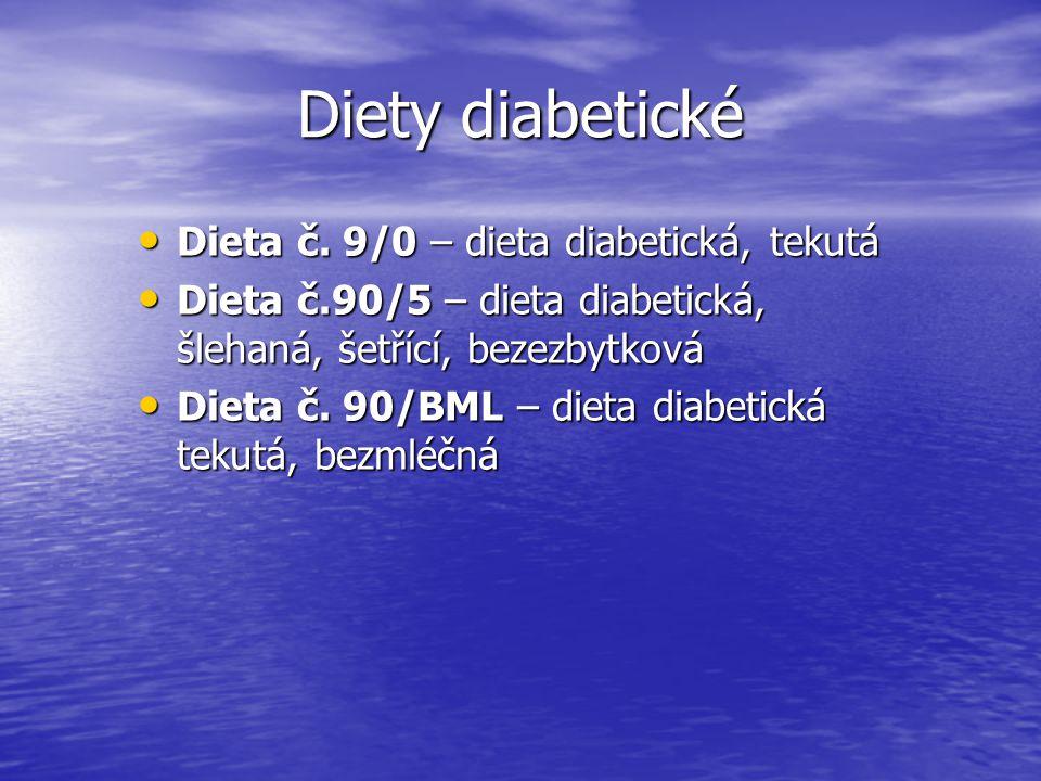 Diety diabetické Dieta č. 9/0 – dieta diabetická, tekutá