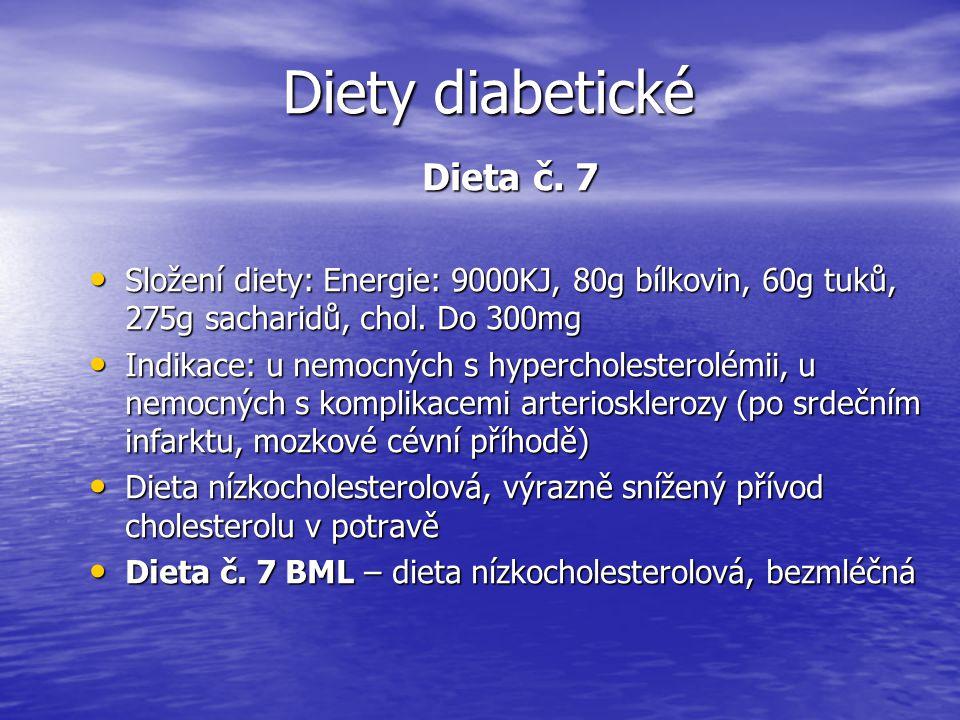 Diety diabetické Dieta č. 7