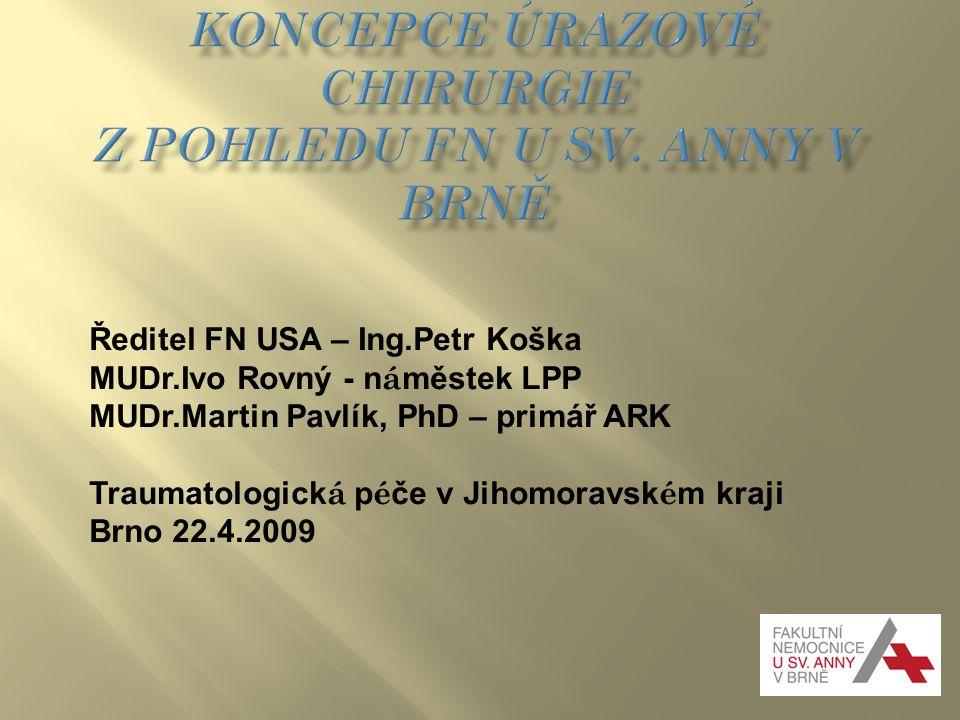 Koncepce úrazové chirurgie z pohledu FN u sv. Anny v Brně