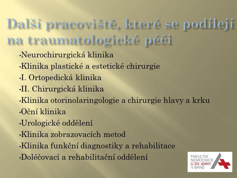 Další pracoviště, které se podílejí na traumatologické péči