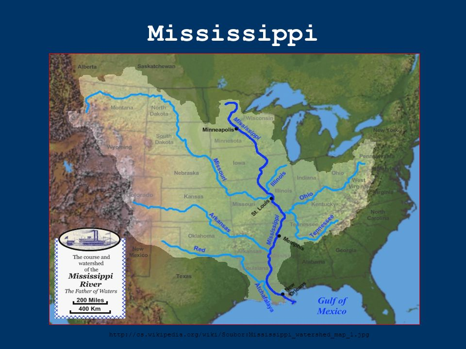 Mississippi http://cs.wikipedia.org/wiki/Soubor:Mississippi_watershed_map_1.jpg