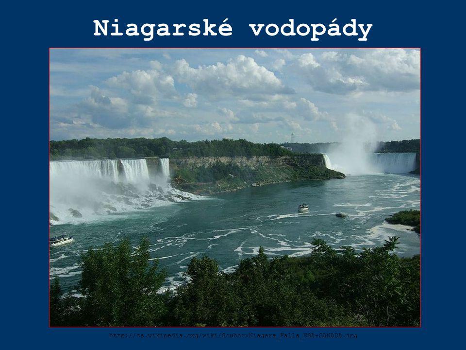 Niagarské vodopády http://cs.wikipedia.org/wiki/Soubor:Niagara_Falls_USA-CANADA.jpg