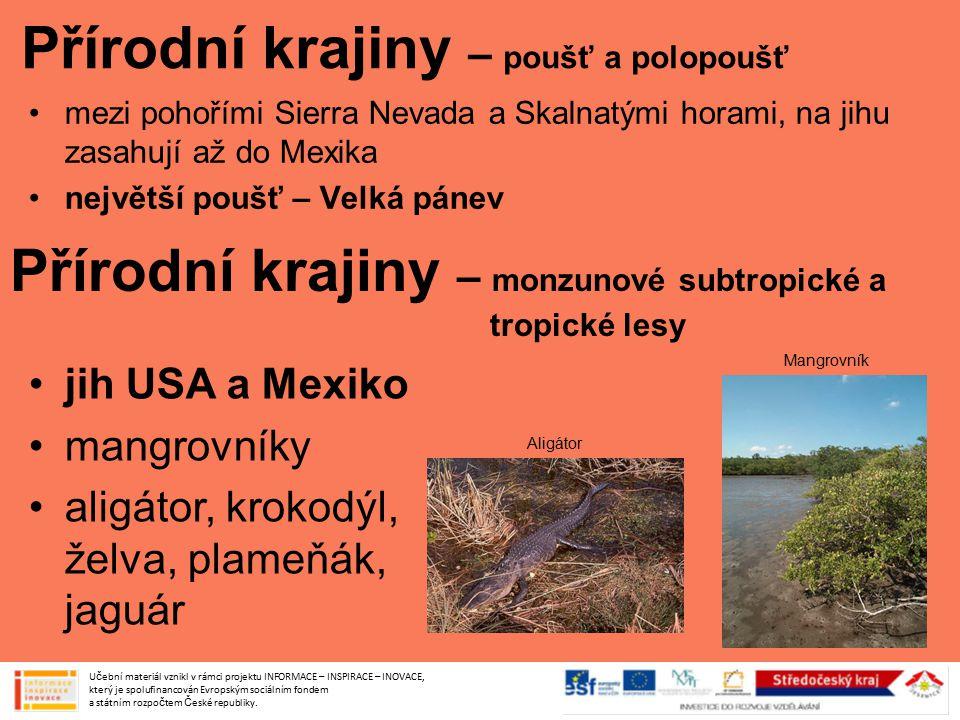 Přírodní krajiny – poušť a polopoušť