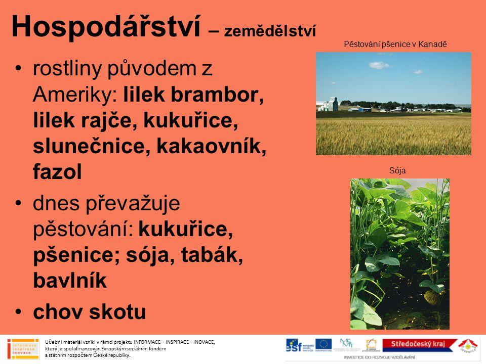 Hospodářství – zemědělství