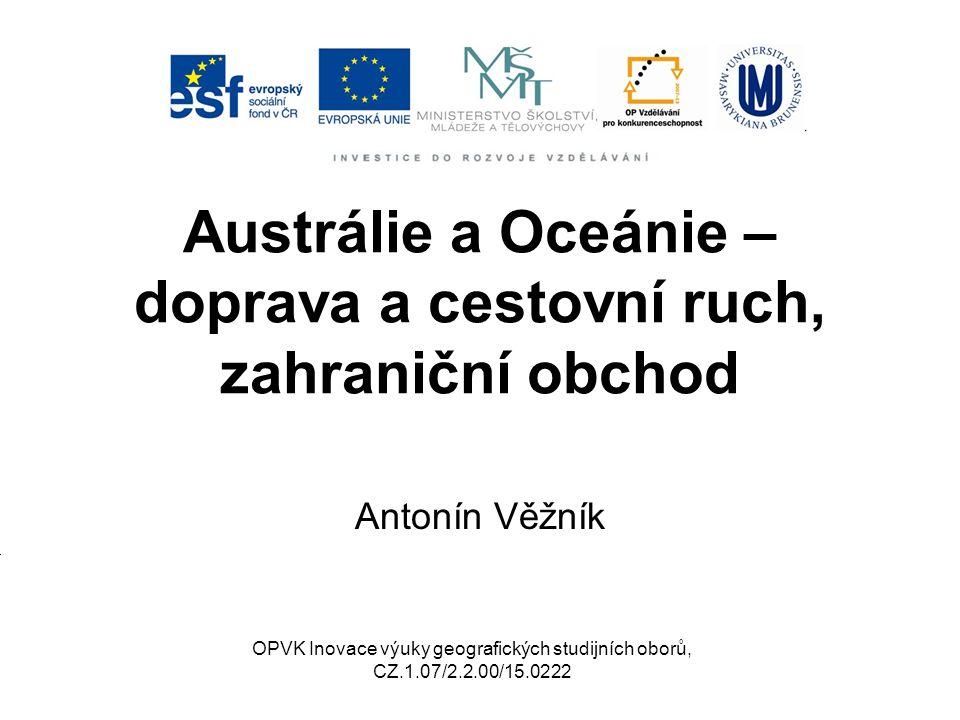 Austrálie a Oceánie – doprava a cestovní ruch, zahraniční obchod