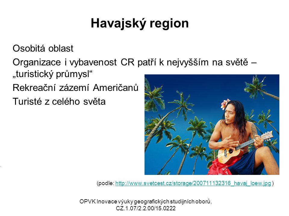 Havajský region Osobitá oblast