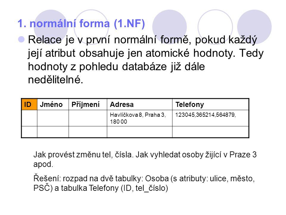 1. normální forma (1.NF)