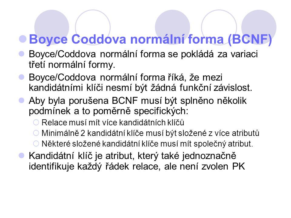 Boyce Coddova normální forma (BCNF)