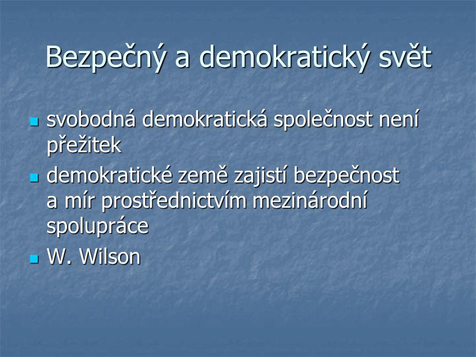 Bezpečný a demokratický svět