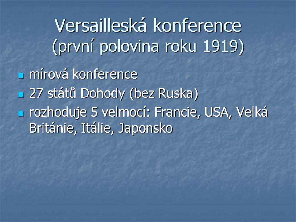 Versailleská konference (první polovina roku 1919)