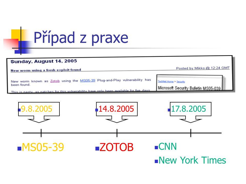 Případ z praxe MS05-39 ZOTOB CNN New York Times 14.8.2005 9.8.2005