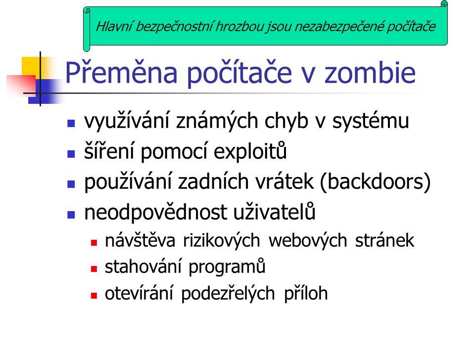 Přeměna počítače v zombie