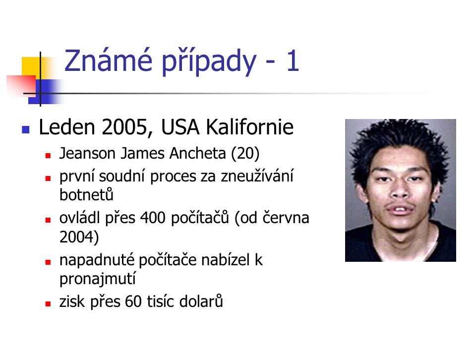 Známé případy - 1 Leden 2005, USA Kalifornie