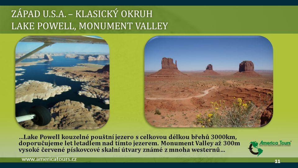ZÁPAD U.S.A. – klasický okruh Lake powell, monument valley