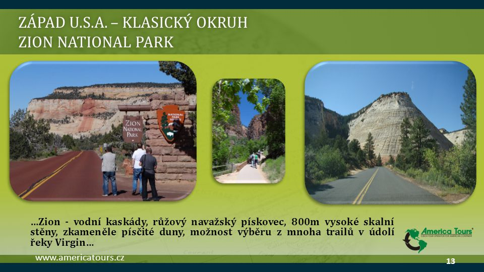 ZÁPAD U.S.A. – klasický okruh Zion national park