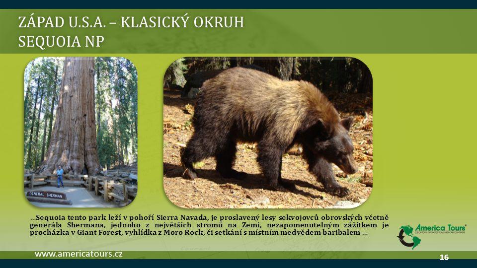 ZÁPAD U.S.A. – klasický okruh Sequoia np