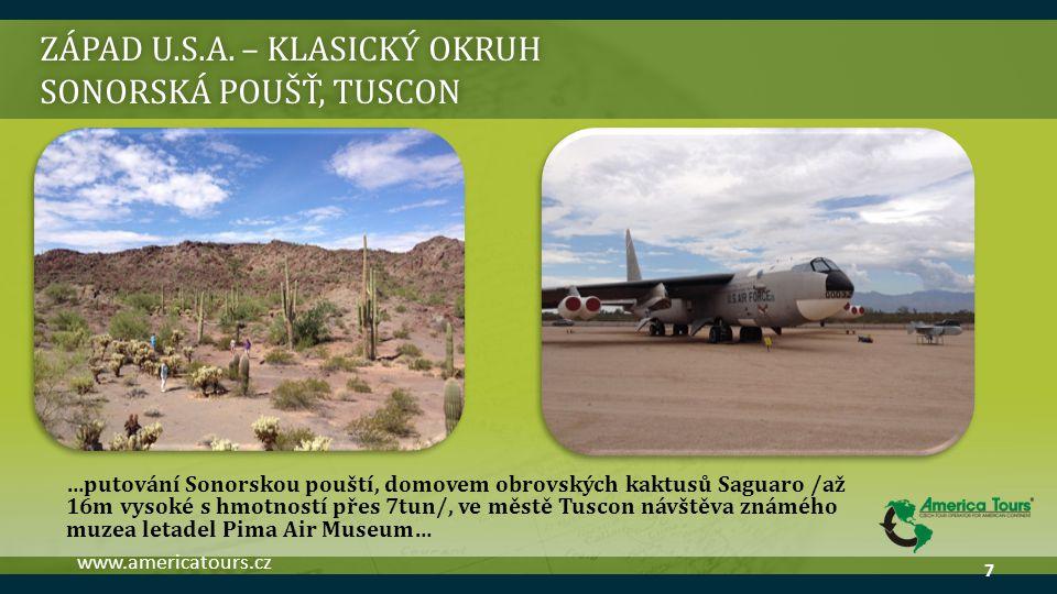 ZÁPAD U.S.A. – klasický okruh sonorská poušť, tuscon