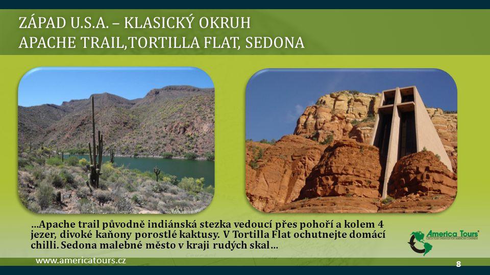 ZÁPAD U.S.A. – klasický okruh Apache trail,Tortilla Flat, sedona