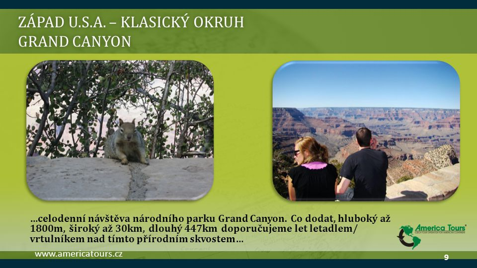 ZÁPAD U.S.A. – klasický okruh grand canyon