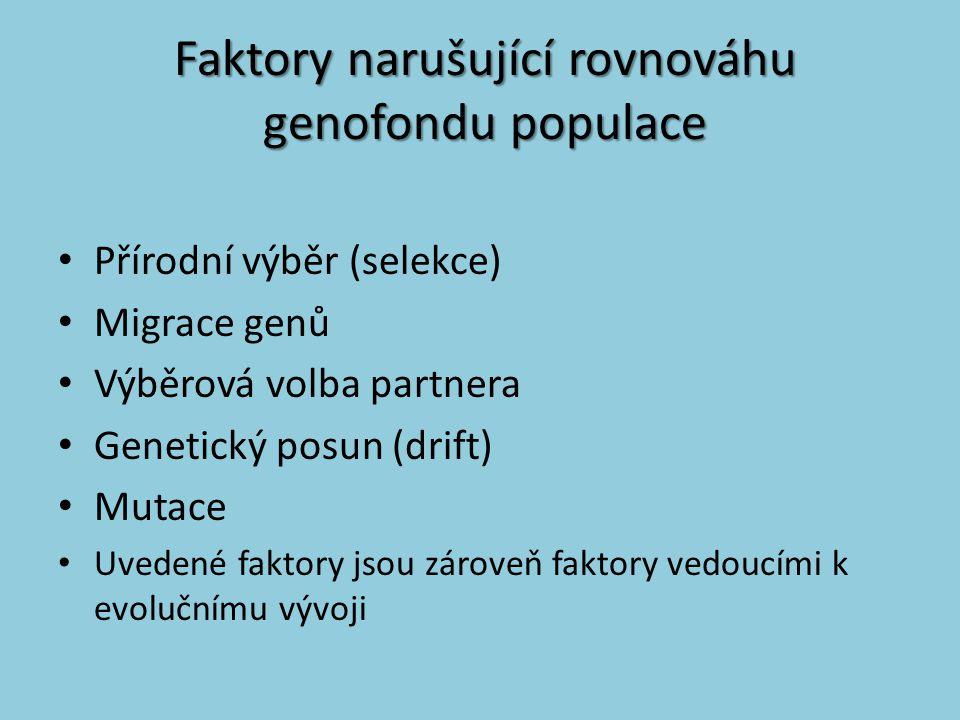 Faktory narušující rovnováhu genofondu populace
