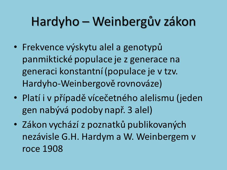 Hardyho – Weinbergův zákon