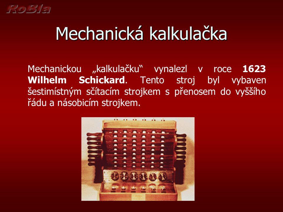 Mechanická kalkulačka