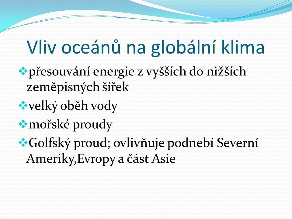 Vliv oceánů na globální klima