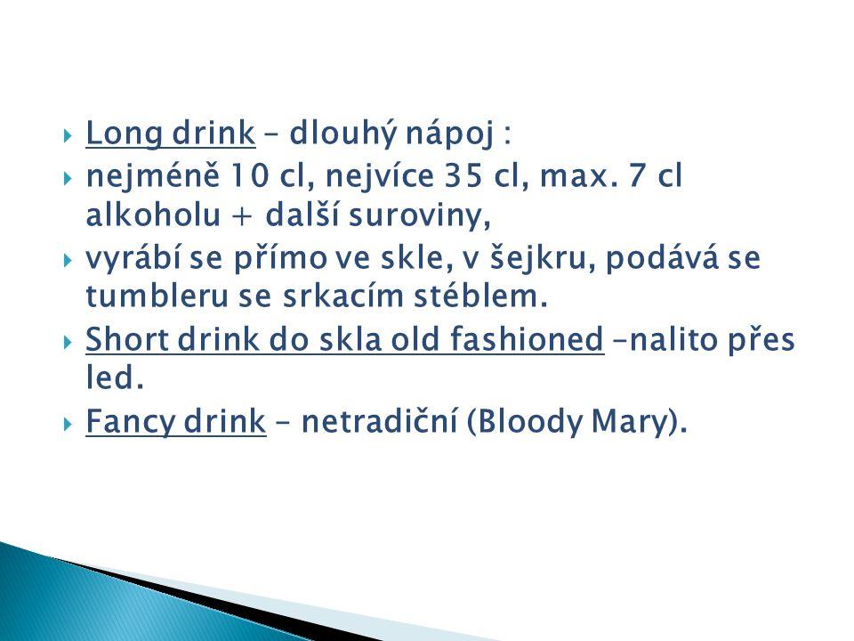 Long drink – dlouhý nápoj :