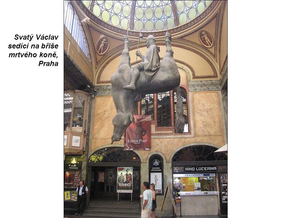 Svatý Václav sedící na břiše mrtvého koně, Praha