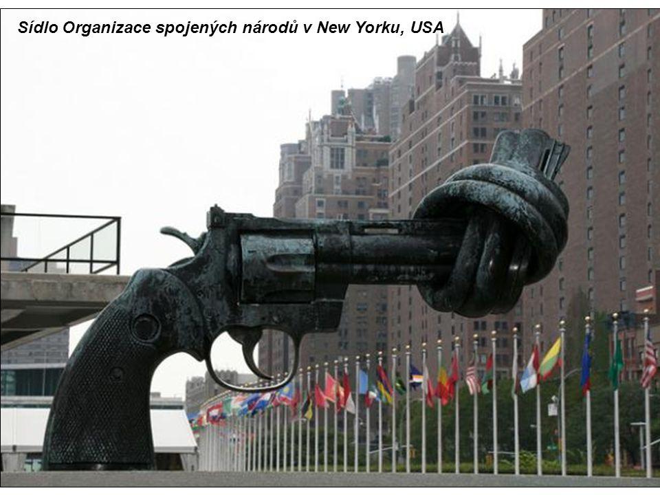 Sídlo Organizace spojených národů v New Yorku, USA