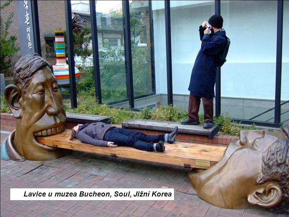 Lavice u muzea Bucheon, Soul, Jižní Korea