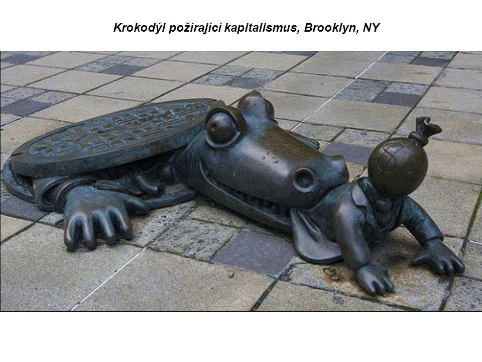 Krokodýl požírající kapitalismus, Brooklyn, NY